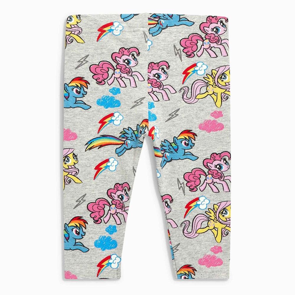 Littlemandy Rainbow Unicorn Girls Leggings Flower Applique Kids 100% Cotton 2019 Brand Children Trousers Pants Clothes