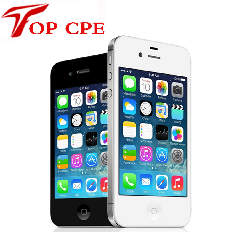 iPhone4S Original Unlocked Apple iPhone 4S IOS Dual Core 8MP WIFI WCDMA Mobile Cell phone Smartphone