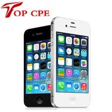 IPhone4S Débloqué Original Apple iPhone 4S IOS Dual Core 8MP WIFI WCDMA Mobile Cellulaire téléphone Smartphone Écran Tactile iCloud itunes