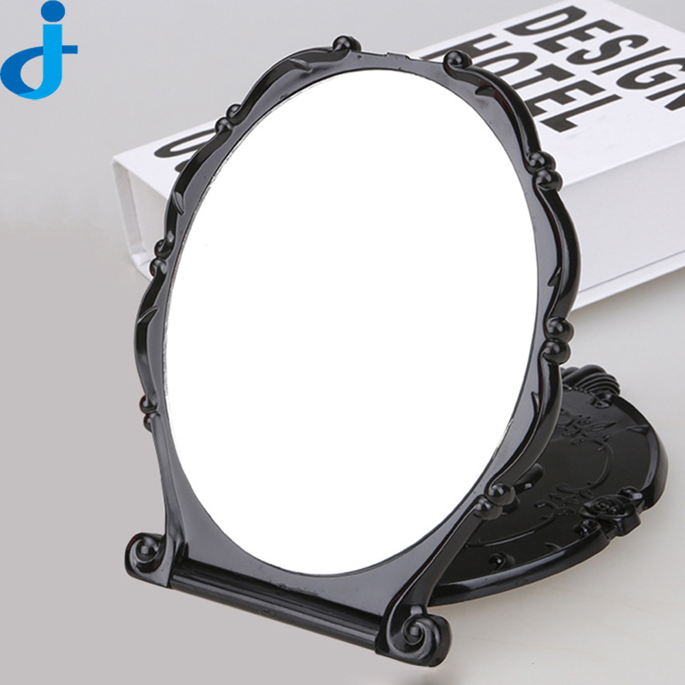Retro Flower Makeup Mirrors Plastic Folding Mirror Mini Cosmetic Miroir De Poche Make Up Mirror SC191