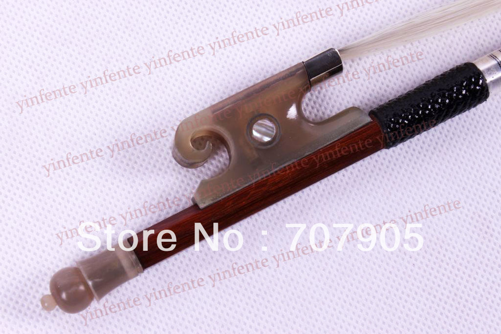 2x Violin Bow Balance Brazil wood Silver Color Bow string Snail Ox horn Frog 4/4 one 4 string 4 4 violin electric violin acoustic violin maple wood spruce wood big jack green color