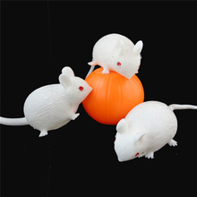 Free Shipping Cartoon Anti Stress Face Reliever Venting Ball Mouse Squeeze Funny Tricky Toy Kids Children Gags Practical Jokes