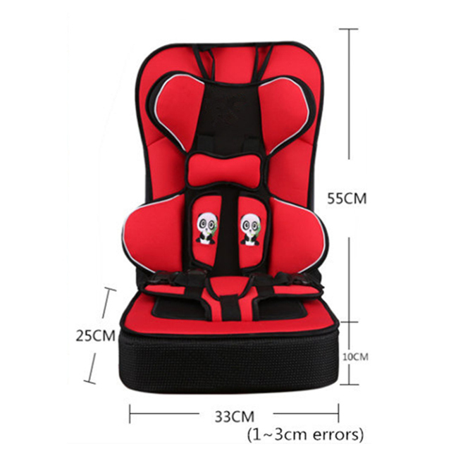 Portable Toddler Car Seat Safety Seat Cushions Thicken Type For 6M~12Y Kids Breathable Soft Pad Booster Protect Toddler