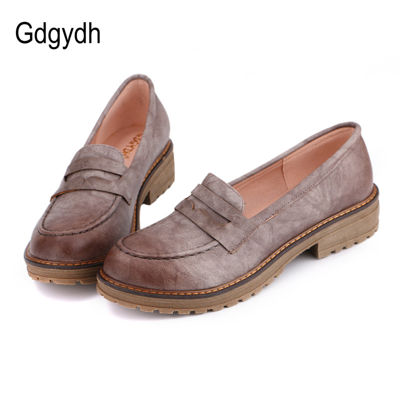 Gdgydh Hot Sales Women Shoes Low Heels 2017 Fashion Casual Shoes Woman Round Toe Platform Ladies Pumps Students Shoes Big Size creepers platform korean suede medium wedge autumn high heels shoes big size casual black pumps green round toe ladies fashion