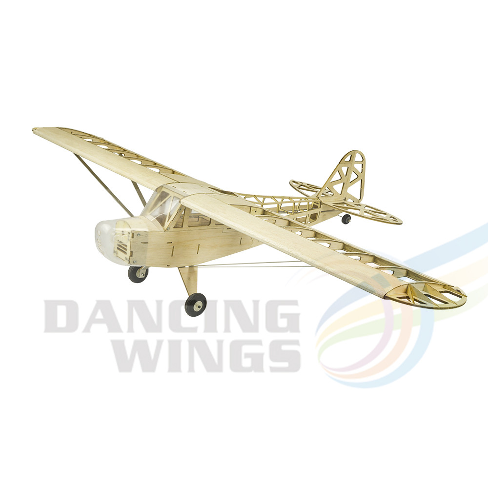 2019 New Piper J3 Cub 1200mm Wingspan Balsa Wood Airplane Models RC Building Toys Woodiness model /WOOD PLANE