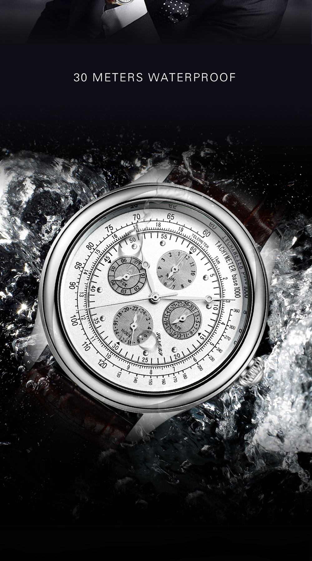 Senors Automatic Mechanical Watch For Men Stainless Steel (5)