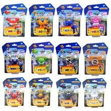 Мини Супер Крылья самолет ABS робот игрушки Фигурки Супер крыло трансформация реактивный анимация для детей подарок