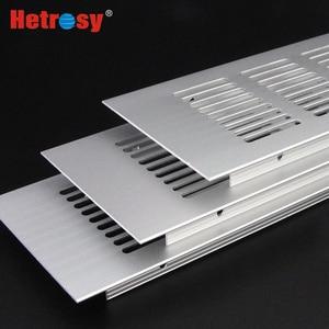 Image 2 - Hetrosy 2PCS Aluminum Rectangular Air Vent Ventilator Grille For Closet Shoe Cabinet Air Conditioner W50/60/80MM Fast Express