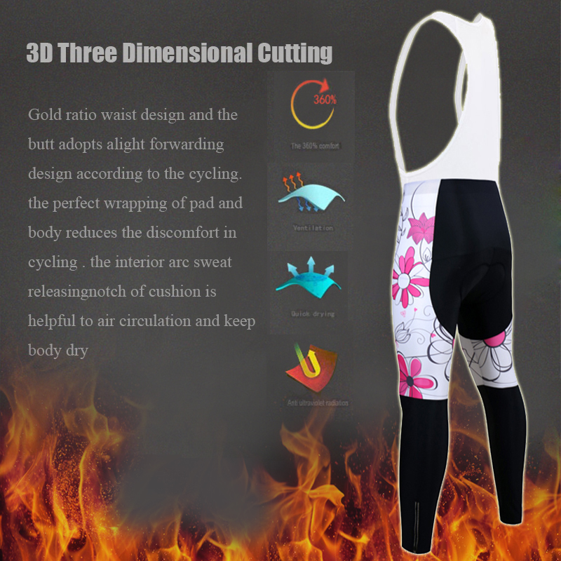 Siilenyond 2019 Women Cycling Bib Pants Pro Winter Coolmax 3D Gel Padded  Keep Warm Mountain Bicycle Cycling Bib Trousers 5
