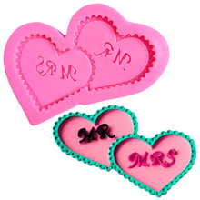 Letter Form Heart Pop Cake Sticks Silicona Molde for Soap Tools Fondant Silicone Mold Molds Cupcakes