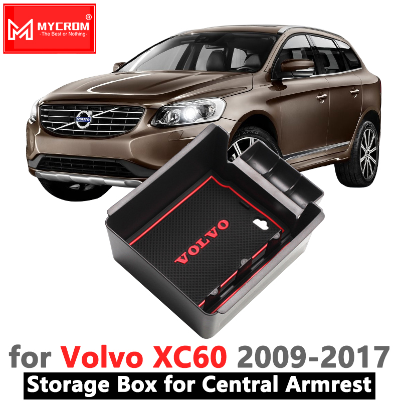 Armrest Box Storage Stowing Tidying for <font><b>VOLVO</b></font> <font><b>XC60</b></font> 2009 2010 2011 <font><b>2012</b></font> 2013 2014 2015 2016 2017 Car Organizer <font><b>Accessories</b></font> T5 T6 image