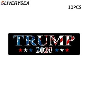 Image 1 - 10 Chiếc Trump Xe Ô Tô Trump 2020 Donald Trump Giữ Mỹ Đại Keo PVC Dán Cho Xe Hơi Tạo Kiểu Dán Trang Trí