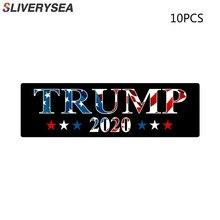 Autocollants de voiture Trump 2020 Donald Trump, étiquette de décoration, en PVC, grand adhésif, pour voiture, de style de voiture, 10 pièces