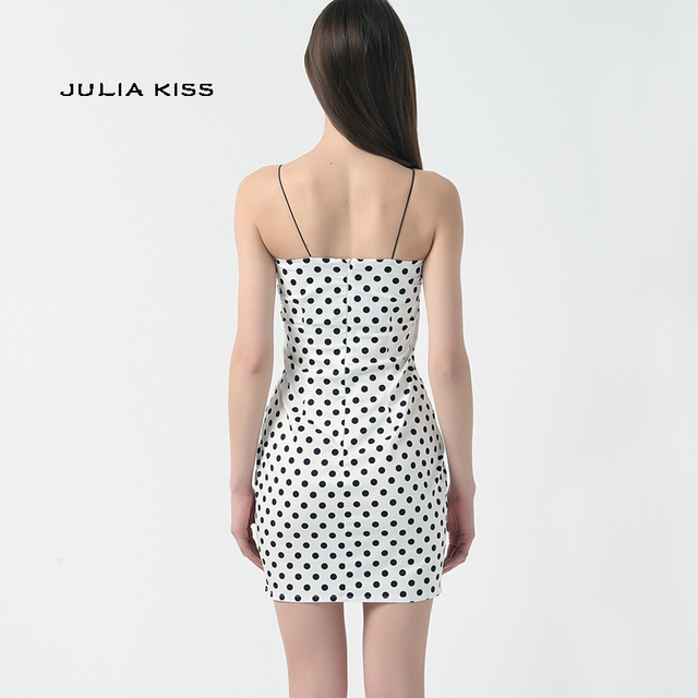 Kendall Jenner Outfit Polka Dot Dress Bodycon Mini Short Dress 3