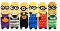 6 pairs Новый милый Гадкий я 2 Миньоны женщины длинные Хлопок Характер Печать Носки Трубки пол meias Носки #1501