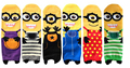 6 pairs New cute Despicable Me 2 Minions women long Cotton Character Printing Tube Socks floor meias Socks #1501