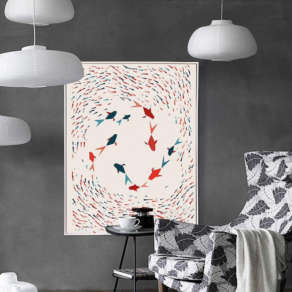 Երկրաչափություն ձուկ. Մինիմալիստական - Տնային դեկոր - Լուսանկար 4