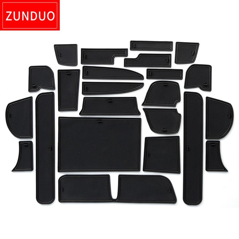 ZUNDUO Porta slot pad Per HONDA LIBERATI 2016 GB5/6/7/8/Giappone nel sud-est AsiNon tappetini antiscivolo Interni zerbino Pad/Tazza rosso/bianco/nero