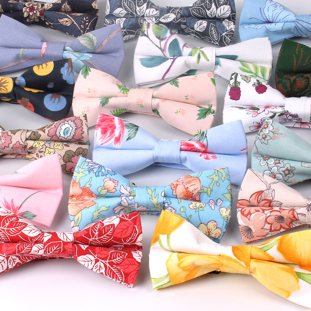Men Bowtie Casual Shirts Bow Tie For Men Women Bowknot Adult Floral Print Bow Ties Cravats Wedding Party Bowties