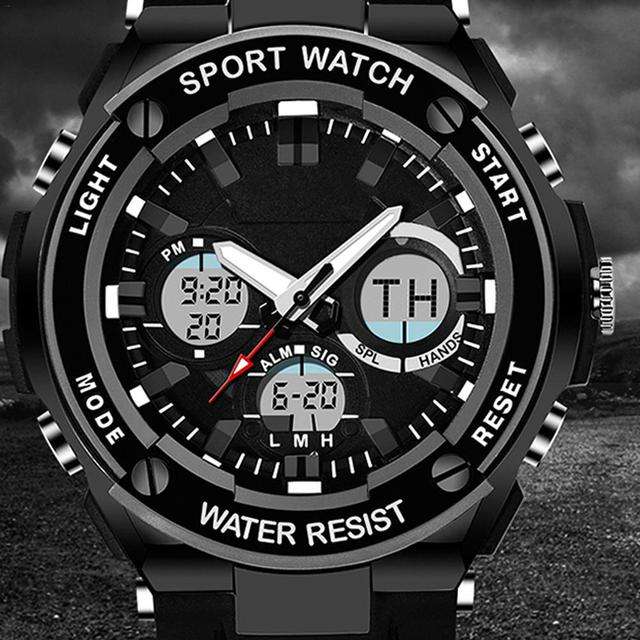 New Style Watch Multi-Functional Sports Outdoor Waterproof 50M Electronic LED Un