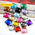 10,000 unids/bolsa 2*2mm la Parte Posterior Plana de Forma Cuadrada Rhinestones de Acrílico, Plástico Acrílico 3D Nail Art/Confección/joyería de diamantes de Imitación