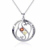 GNX10265 100% Echt 925 Sterling Silber Halskette Immer Meine Tochter Für Immer Mein Freund Anhänger Halsketten Luxus Schmuck Für Frauen