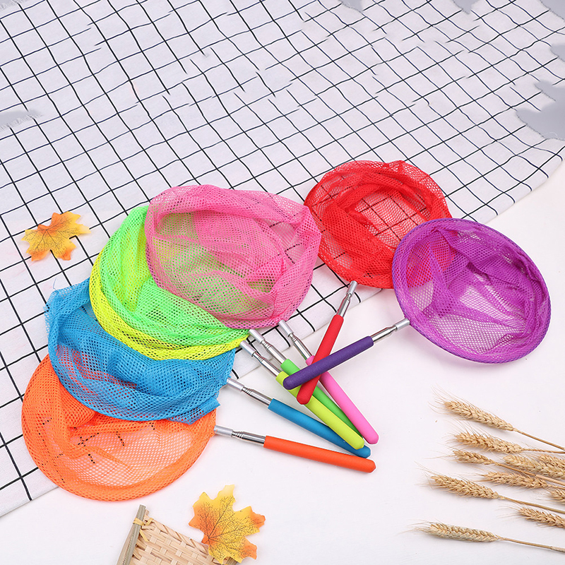 Kids Telescopic Butterfly Net Extendable and Anti Slip Grips for Catching Insect