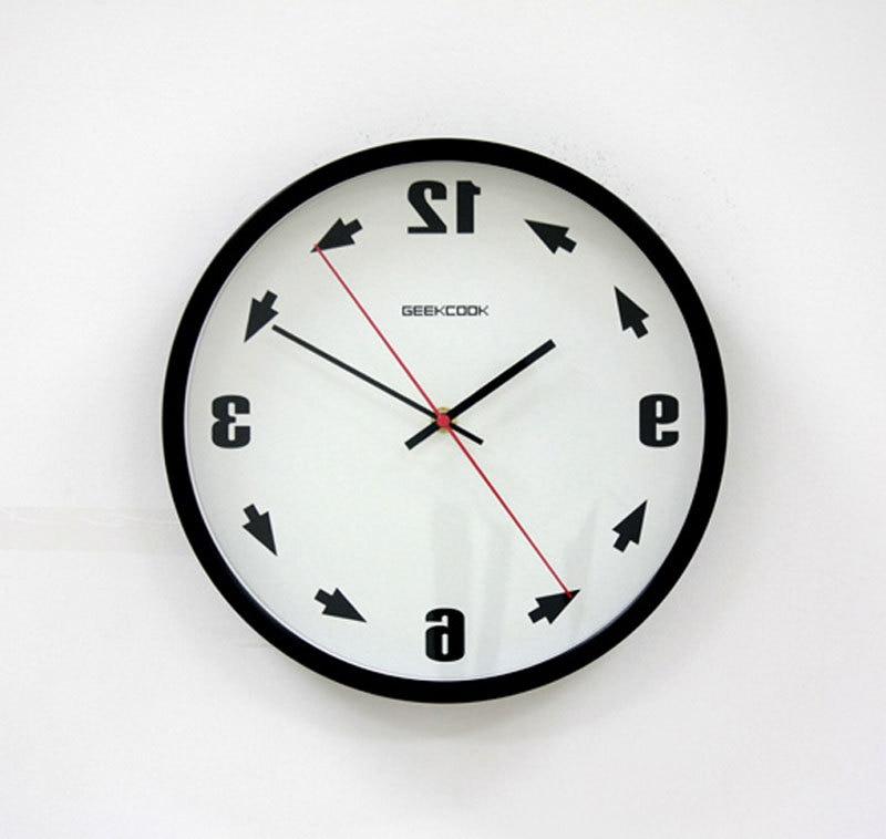Time Base Geekcook Geeks Refluent Metal Wall Clock Anti Clockwise