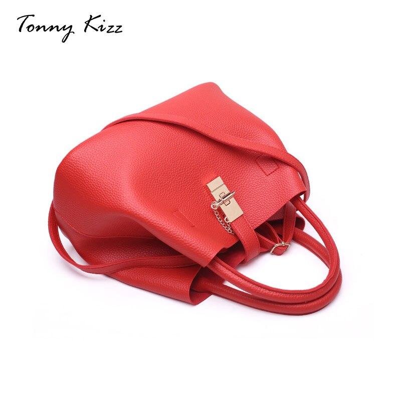 black Feamle Lichee Del Di Spalla red Tote Lusso Signore Grande Delle Tonny Progettista Kizz Donne Pink Borse Modello Sacchetto Secchio Capacità gray nvpn1wqg