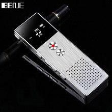 BENJIE 8 GB Mini Flash Gravador de voz Digital Gravador de Voz Ditafone MP3 Player de Música Apoio Cartão TF Alto Falante Embutido