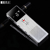 BENJIE 8GB Mini Flash Digital Voice Recorder Dictaphone MP3 Music Player Gravador De Voz Support TF