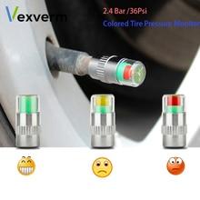 hot deal buy vexverm 4pcs 2.4bar 36psi car auto tire pressure monitor valve stem caps sensor indicator eye alert diagnostic tools kit