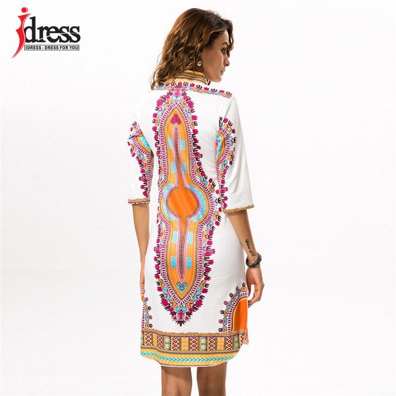 2017 Tunic Beach DressesNew Boho Women Dress Sexy Sundresses DeepV Ethnic Dashiki African Print Big Size 3XL Woman SunDress Robe (1)