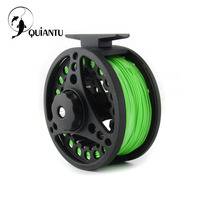 QUIANTU Fly Fishing Reel 5/6 WT CNC Aluminum Reamer Fly Fishing Line Metal Reel Fishing Tackle Pesca Hand Cnanged Fishing Reel