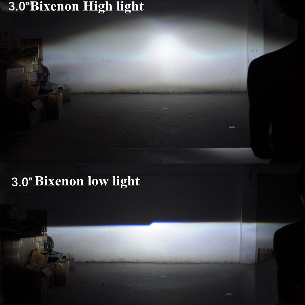Image 5 - 2.5 3.0 inches projector lens Easy Install Koito Q5 Bi xenon shroud Mask LHD with demon eyes white red blue eyes in stockCar Light Accessories   -