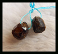 SALE Natural Stone nugget Garnet Earrings Pairs, semi-finished product jewelry,10*8mm,2.5g