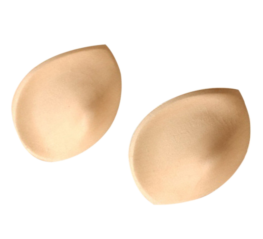 Hot Sale 1 Pair/2pcs Push Up Sponge Inserts Bra Pads Breast Enhancer Suitable for Swimsuit Underwear Bikini