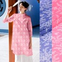 140cm Wide Silk Linen Silk Horse Senior Digital Inkjet Silk Hemp Fabric Clothing Fabrics Silk