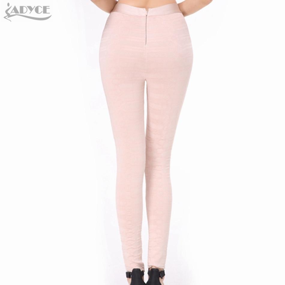 b6c8112b6b9fd2 Runway Leggings Skinny Pants Black White Olive Apricot Stereo Jacquard  Celebrity Party Bodycon Pants Legging 3