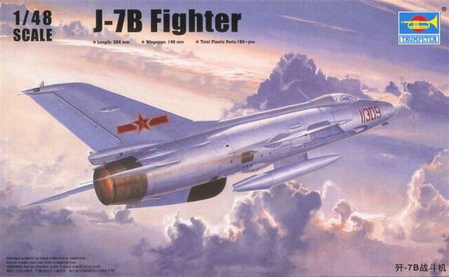 Trumpet 02860 1:48 China fighter -7B   Assembly modelTrumpet 02860 1:48 China fighter -7B   Assembly model