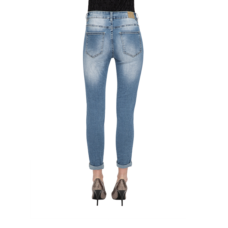 My Will Jeans Jeans For Large Size Women Spring Stretch Thin Feet Jeans Women Nine Pants  1211 Made In China
