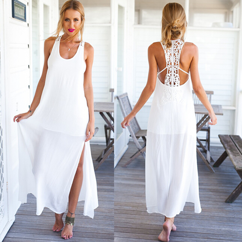 Long Beach White Summer Dresses