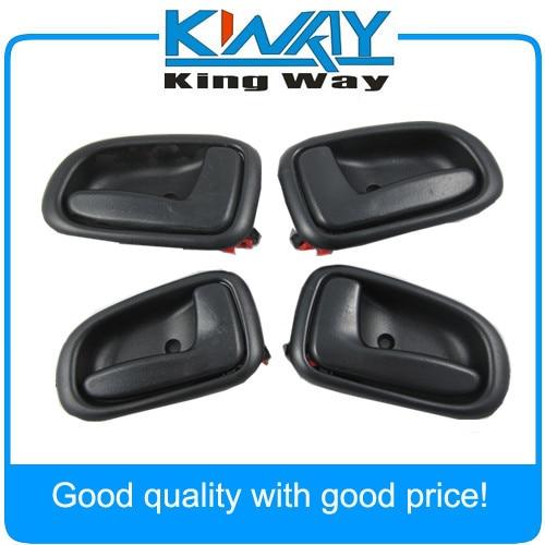 fits Toyota Inside Interior Door Handle Front Rear Left Right Black Chrome 4pcs