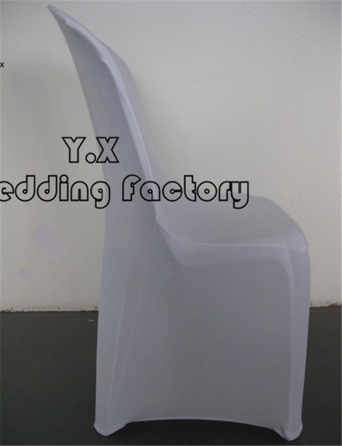 Used Spandex Chair Covers Yellow Arm 100pcs Sale Cover For Plastic Free Shipping White Color