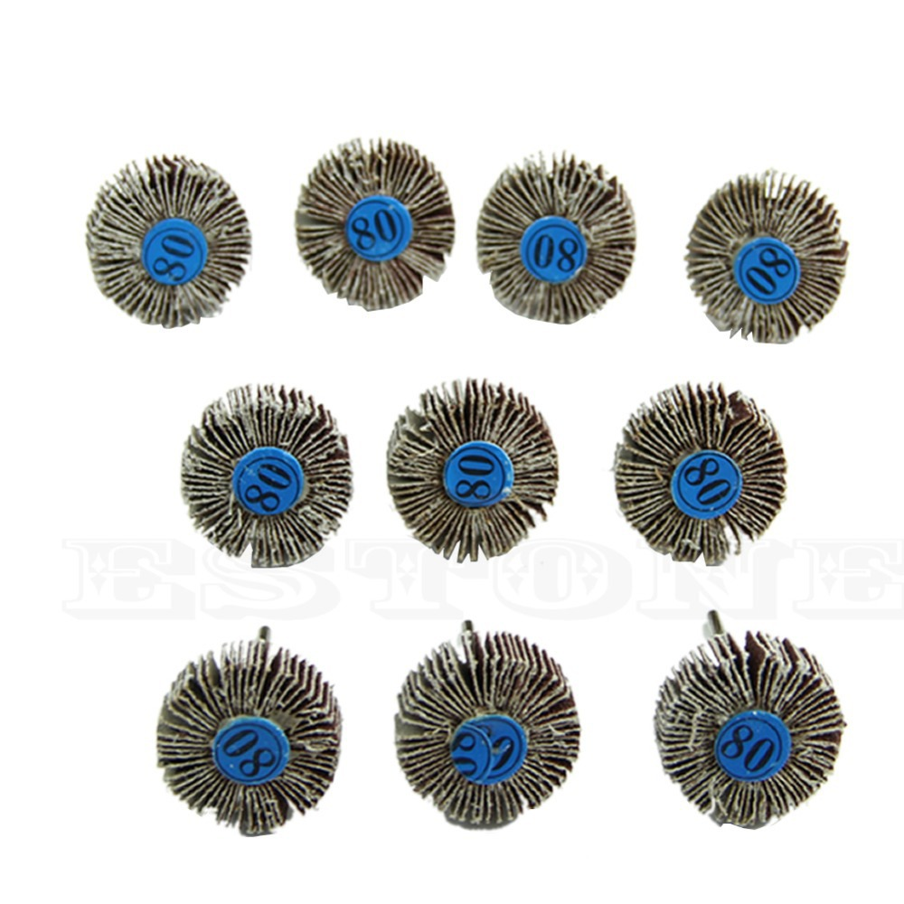 New 10pc Flap Wheels Disc Set Sanding Sandpaper 80# Grit For Power Rotary Tools