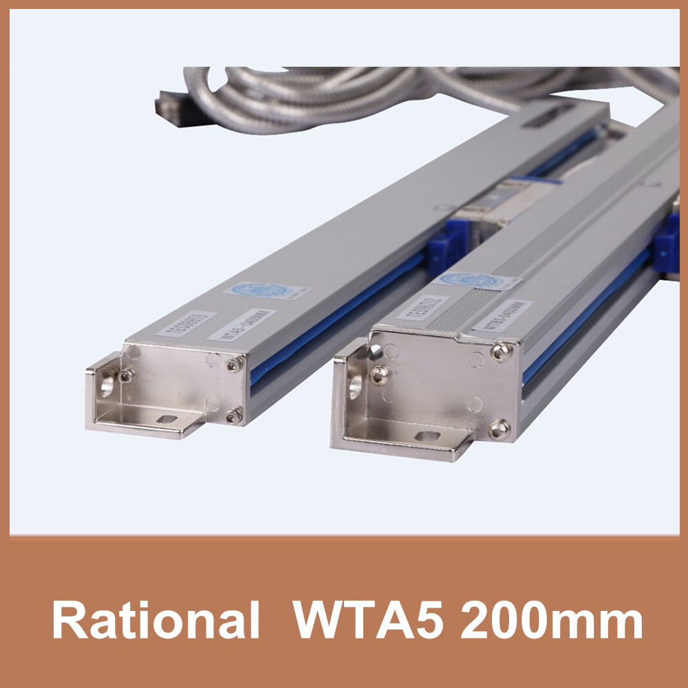 Free Shipping Rational WTA5 5um 200mm linear encoder scale TTL 5V 0.005mm digital linear scale dro for milling lathe CNC free shipping high precision easson gs11 linear wire encoder 850mm 1micron optical linear scale for milling machine cnc