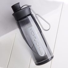 Water Bottle Protein Shaker Portable Bottle Sports Camping Hiking Water Bottle With Tea Infuser Plastic Cup 600/800/1000ML(China)