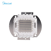 Wholesale 50w UV LED light Lamp SMD Chip hight power Purple color 45MIL 395nm 400nm DC33 36V for Plant Growing light