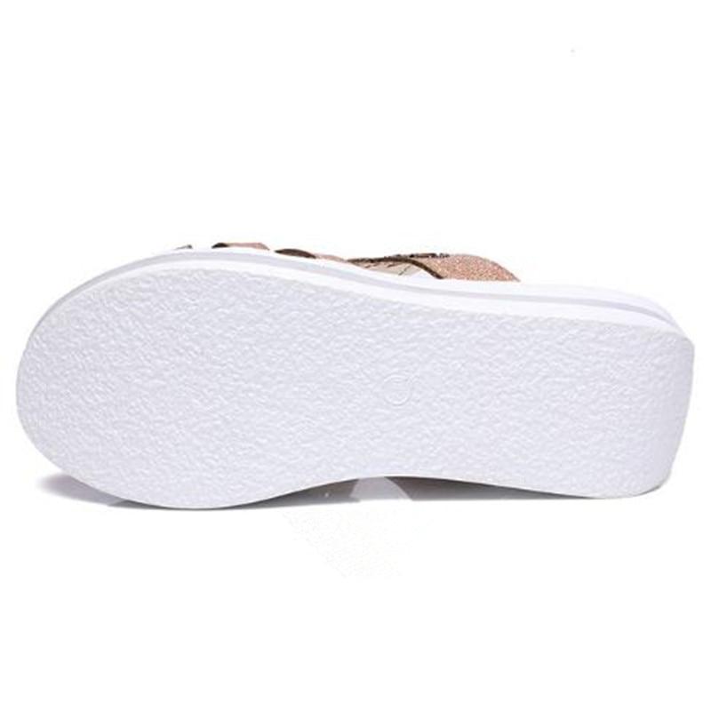 Hot 2019 Newest Fashion Rhinestone Summer Sandals Women Shoes High Heel Sandals Non-slip Platform Wedges Slippers Women Sandals