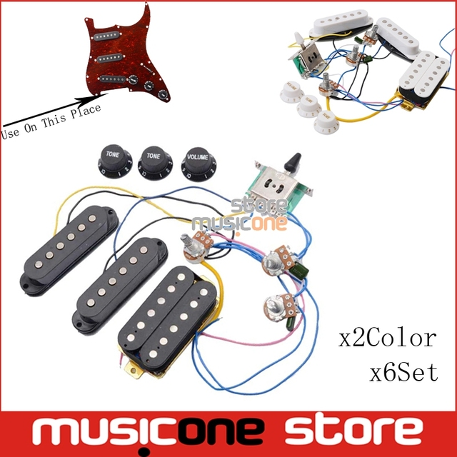 aliexpress com buy 6set electric guitar pickup wiring harness6set electric guitar pickup wiring harness prewired 5 way switch 2t1v control ssh pickup for